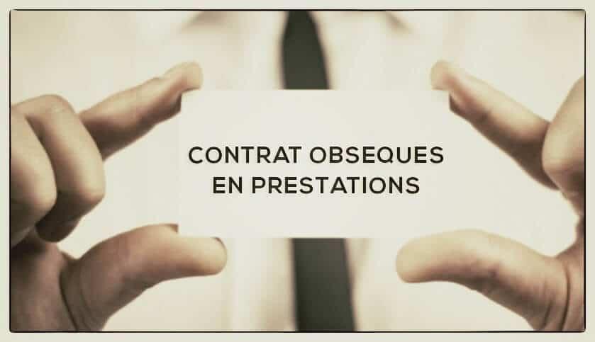 contrat obsèques prestations