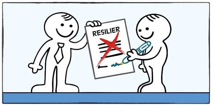 resiliation contrat assurance deces dessin