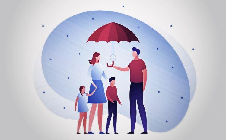 Illustration Pere Qui Protege Sa Famille