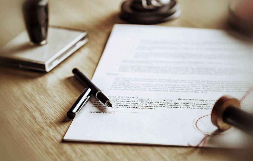 Illustration Signature De Contrat Obsèques