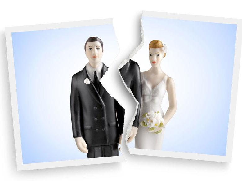 illustration couple séparé