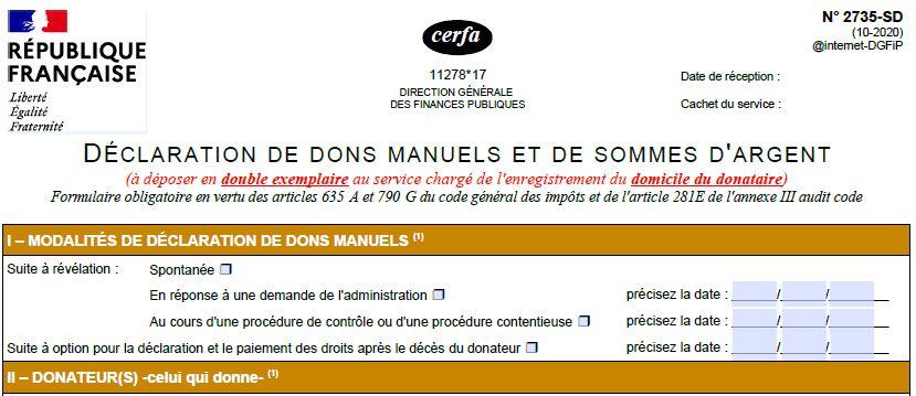 Capture D Ecran Cerfa 2735 Declaration Don Manuel